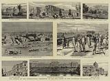 The Opening of the International Exhibition at Calcutta, Views of the Exhibition Buildings and the City