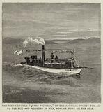 """The Steam Launch """"Queen Victoria"""", of the National Society for Aid to the Sick and Wounded in War …"""