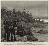"""The War in the Soudan, """"Water at Last"""", First Sight of the Nile after the Battle of Gubat"""