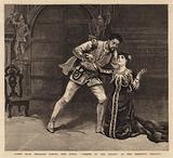"""Scene from Hermann Goetz's New Opera, """"Taming of the Shrew,"""" at Her Majesty's Theatre"""