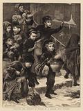 """Feeding the Hungry"", a Sketch at a London Soup Kitchen"