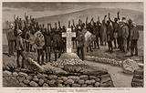The Monument to the Prince Imperial in Zululand, the Zulu Chief Geboodo swearing to Protect …
