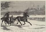 Winter in Russia, Trotting Races at Prisnenskij Prud, near the Zoological Gardens, Moscow