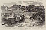 "The Nile Expedition for the Relief of General Gordon, towing the Armed Steamer ""Nasaf el Khair"" …"