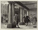 The Colonnade under the Town Hall, Rochester, Hogarth and the other Pilgrims playing at Hopscotch on the Flagstones