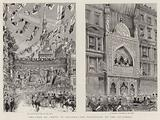 The Shah of Persia in England, the Procession to the Guildhall