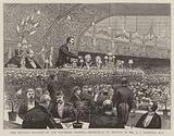 The Unionist Banquet at the Waverley Market, Edinburgh, in Honour of Mr AJ Balfour, MP