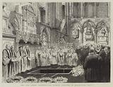 The Late Robert Browning, the Funeral Ceremony in Westminster Abbey