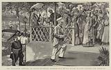 Mr Stanley's Arrival at Cairo, entering Shepheard's Hotel after having visited the Khedive
