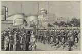 The King's Own Scottish Borderers leaving the Citadel, Cairo, Egypt, En Route for India