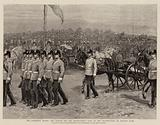 The Aldershot Review, Her Majesty and the Headquarters Staff at the Saluting-Point on Laffan's Plain