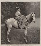 Princess Victoria Eugenie of Battenberg and her Cream-Coloured Pony
