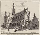 Haarlem, the Town of Frank Hals, the Great Church in the Market Place