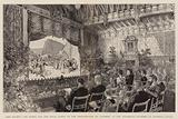 """Her Majesty the Queen and the Royal Party at the Performance of """"Carmen"""" in the Waterloo Chamber at Windsor Castle"""