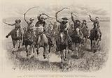 Life in a Mexican Cowboys' Camp on the Prairies, the Cowboys' Race
