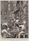 The Plague at Hong Kong, British Troops destroying the Refuse from Infected Houses at Tai-Ping-Shan
