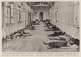 The Plague at Hong Kong, in the Men's Ward of the Glass Works, Kennedy Town, Temporarily used as a Hospital