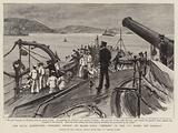 """The Naval Manoeuvres, weighing Anchor on Board HMS """"Benbow"""" of the """"C"""" Fleet, off Torquay"""