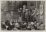 The Marquess of Salisbury delivering his Presidential Address at Oxford before the British Association