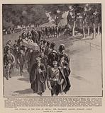 The Funeral of the Duke of Argyll, the Procession leaving Inverary Castle