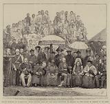 Grand Durbar at Darjeeling, India, Return Visit of the Lieutenant Governor of Bengal to the Rajah …