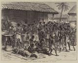 The Ashantee War, Ashantees buying Muskets with Gold Dust at Assinee