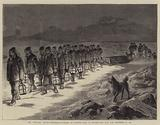 "The ""Polaris"" Arctic Expedition, Funeral of Captain Hall in Polaris Bay, Latitude 8138, 11 November 1871"