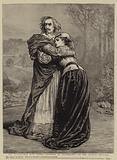 """Mr Irving and Miss Isabel Bateman in """"Richelieu"""" at the Lyceum Theatre"""