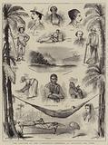 "The Capture of the ""Virginius"", Sketches at Santiago del Cuba"