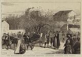 The Herzegovina Insurrection, bringing Insurgent Wounded into Ragusa
