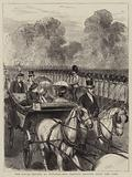 The Royal Review at Windsor, Her Majesty driving down the Line