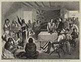"""The Indian War in the United States, the """"Sitting Bull"""" Council at Fort Walsh, British Territory, October, 1877"""