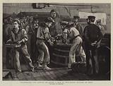 Celebrating the Jubilee on Board a Man of War, Extra Rations of Grog