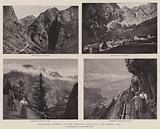 Mountain Scenery in the Bernese Oberland, the Gemini Pass