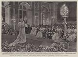 The Czar and Czaritsa at Versailles, Their Imperial Majesties listening to a Recitation by Madame Sarah Bernhardt