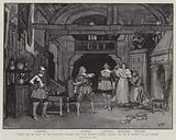 """""""Under the Red Robe"""" at the Haymarket Theatre, the Scene between Captain Larolle and Gil de Berault at the Chateau"""