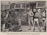 The Famine in India, a Scene on the East Indian Railway