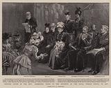 Princess Louise in the City, presenting Prizes to the Students of the Royal Female School of Art