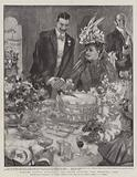 Madame Patti's Marriage, the Bride cutting the Wedding Cake