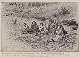 To Klondyke and Back, Natives waiting for Payment for Wood used on the Yukon Steamers