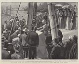 The Barrage of the Nile, the Duke of Connaught laying the Foundation Stone of the Great Dam at Assouan