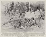 To Klondyke and Back, Basket-Making at an Indian Encampment on the Yukon