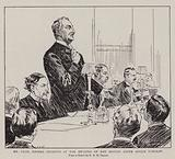 Mr Cecil Rhodes speaking at the Meeting of the British South Africa Company