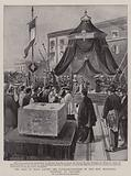 The King of Italy laying the Foundation-Stone of the New Municipal Building at Cagliari