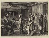 The Brickyards of England, paying the Children at the Inn