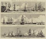 Sketches at the Naval Review at Spithead