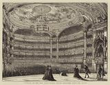 Interior of the New Paris Opera House, sketched from the Stage