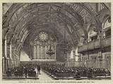 Opening of the New Buildings of the Merchant Taylors' School, Charterhouse Square, the Great Hall