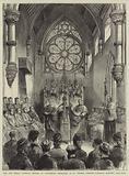 The New Roman Catholic Church at Canterbury dedicated to St Thomas a'Becket, Cardinal Manning preaching