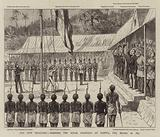 Our New Territory, hoisting the Royal Standard at Nasova, Fiji, 10 October 1874